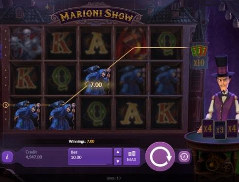 Призова комбінація в апараті Marioni Show