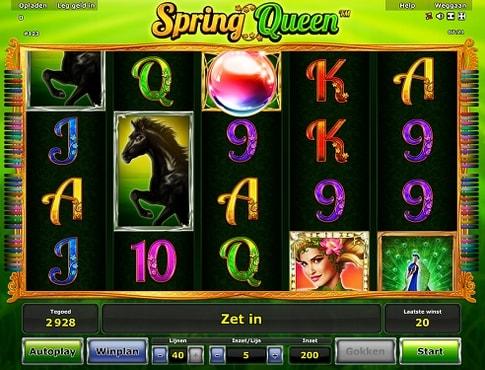 Виграш в автоматі Queen of Spring
