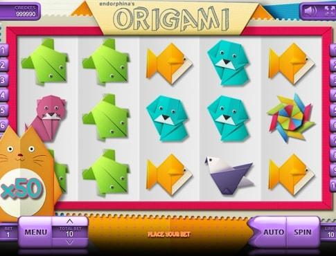 Комбінація символів в ігровому автоматі Origami
