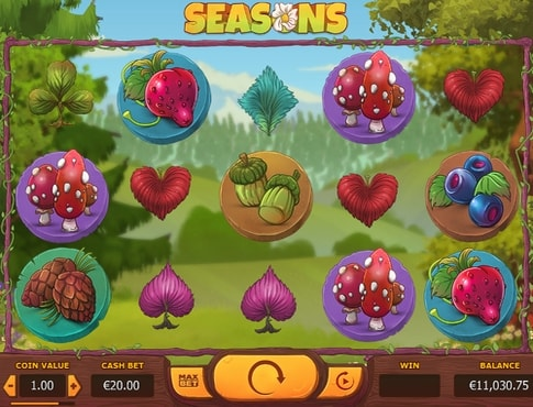 Символи онлайн автомата Seasons