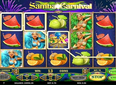 Призова послідовність в ігровому апараті Samba Carnival