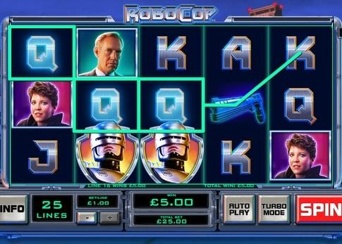 Випадання виграшної комбінації в ігровому автоматі Robocop