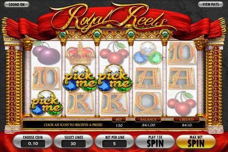 Призова комбінація на лінії в ігровому автоматі Royal Reels
