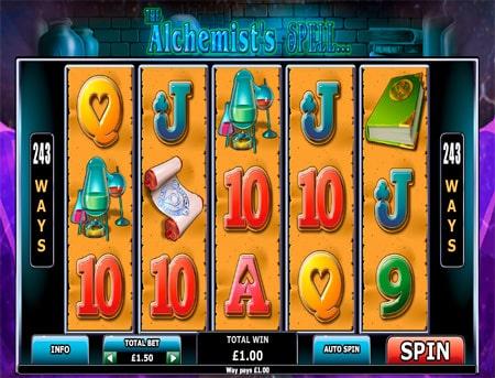 Вдала комбінація символів в ігровому автоматі The Alchemist`s Spell
