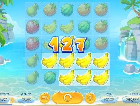 Комбінація з бананів в онлайн автоматі Sunny Shores