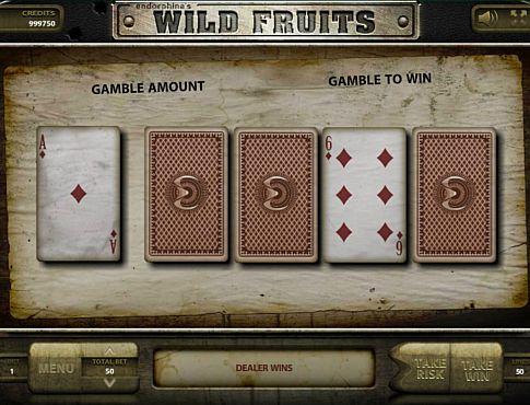 Ризик-гра в онлайн слоті Wild Fruits