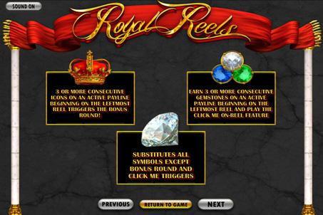 Правила гри в слоті Royal Reels