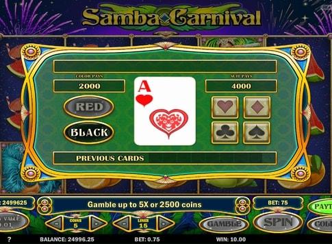 Гра на множення в слоті Samba Carnival
